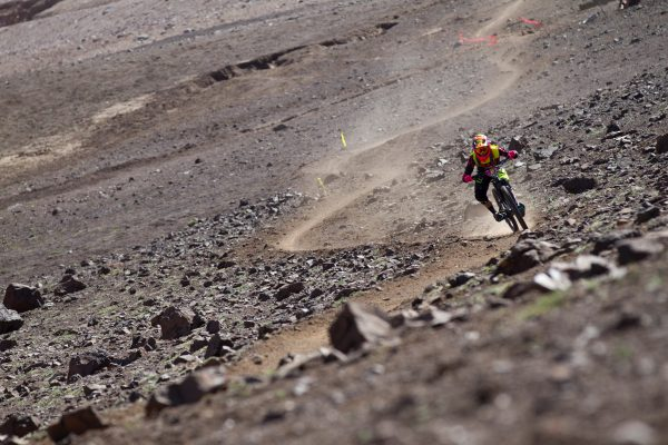 LA PARVA, SANTIAGO, CHILE - 9 February 2016 - Mark Scott of Santa Cruz Bicycles SRAM during the first day of the 2016 Andes-Pacifico, near Santiago Chile, from La Parva Ski Resort with Santa Cruz Bicycles. Photo by Gary Perkin